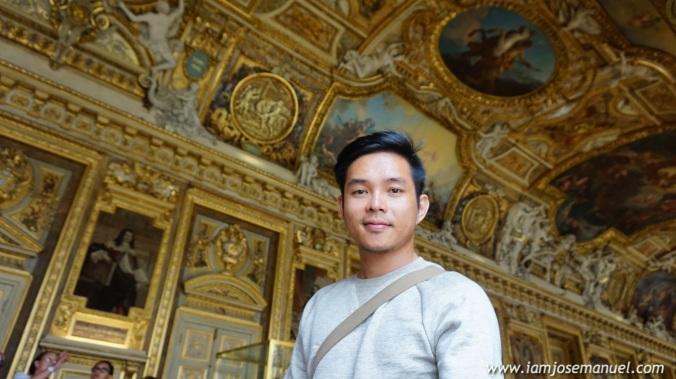 The lavish hallways of Napoleon Bonaparte's Parisian apartment.