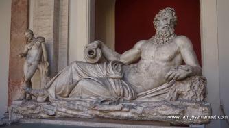 Marble sculpture inside the Vatican Museum