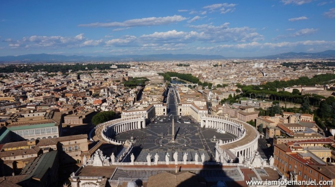 View of the Vatican as from the Basilica Dome