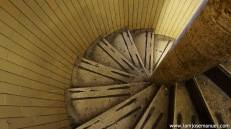 The winding stairway to reach the high point of the Basilica Dome. 7 Euros to enter this secluded area