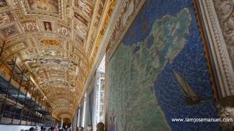 Ancient World Map Tapestry, as part of the Vatican's Treasure collection