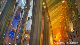 Apart from its imposing structure from the outside, what really amazed me is how the interior achieved a truly magnificent play of light and color as produced by the stained glass windows from all corners.