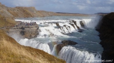 Gullfoss Waterfall is one of Iceland's Iconic landscapes. this is around 30-40 meters drop in total.sobrang powerful