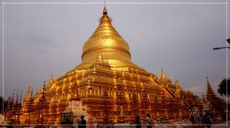 Sun kissed Shwezigon Pagoda