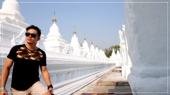 Kuthodaw Pagoda is known for the brilliant white pagodas